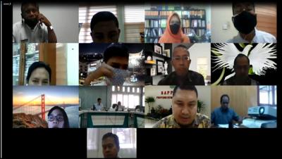 Fasilitasi Dukungan Kegiatan Untuk Intervensi Stunting Di Sumatera Barat  Melalui Video Conference